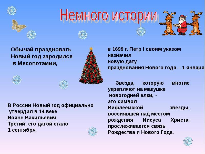 Презентацию праздника новый год в 1 классе