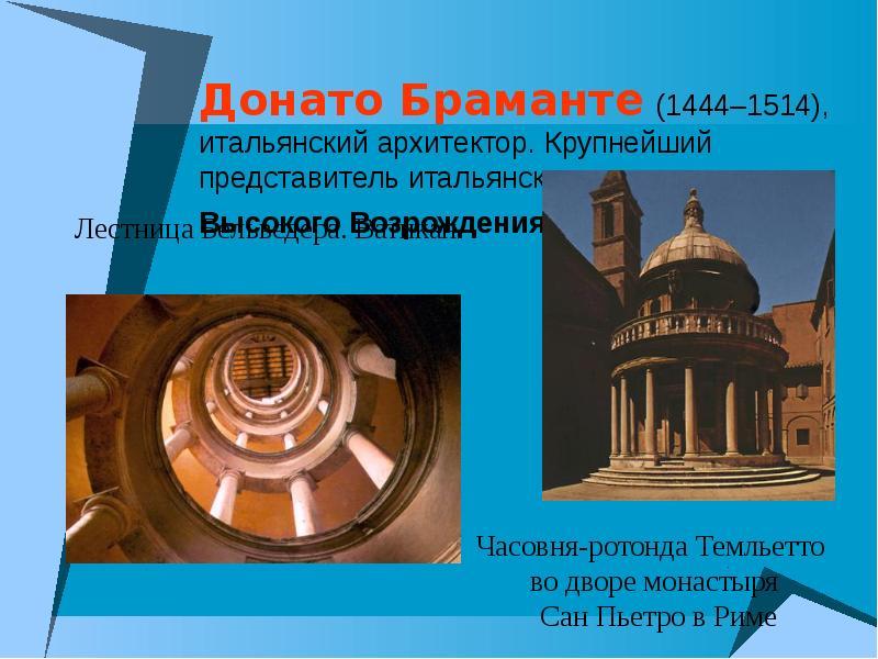 архитектура эпохи раннего и высокого возрождения считает