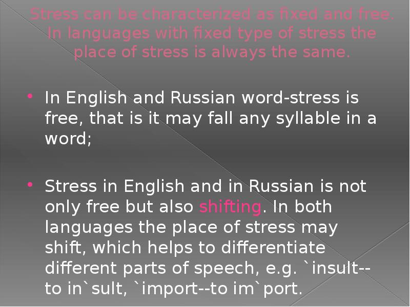 phonologyrules for stress in english essay If you don't know what to write on the topic of cause and effects of stress in children research papers and coursework in english essay guides.
