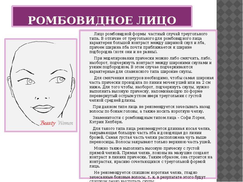 Стрижка для лица в форме ромба