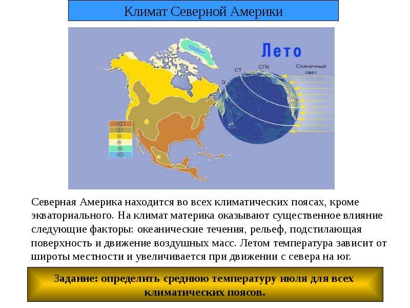 климат северной америки схема
