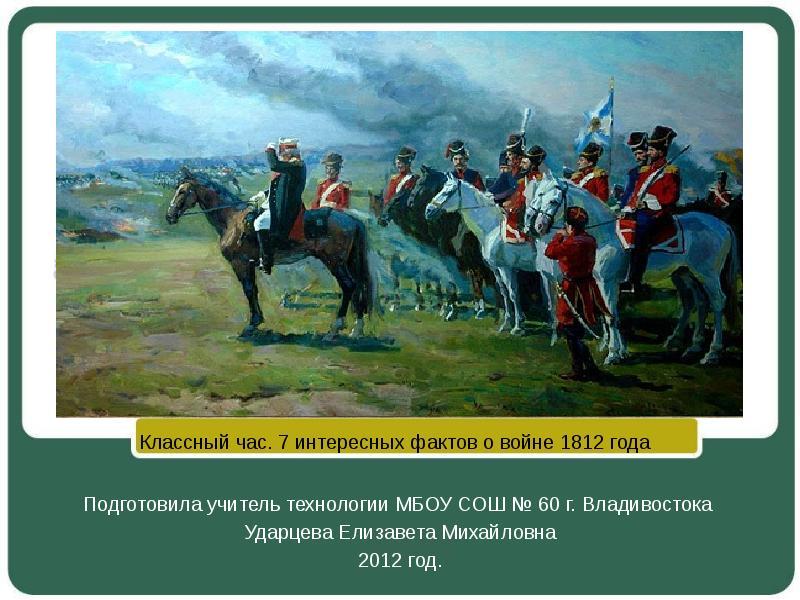 Новейшие факты войны 1812 года