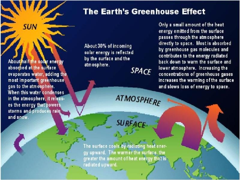 the four steps in the greenhouse effect