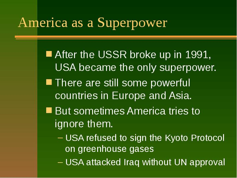america as a superpower essay