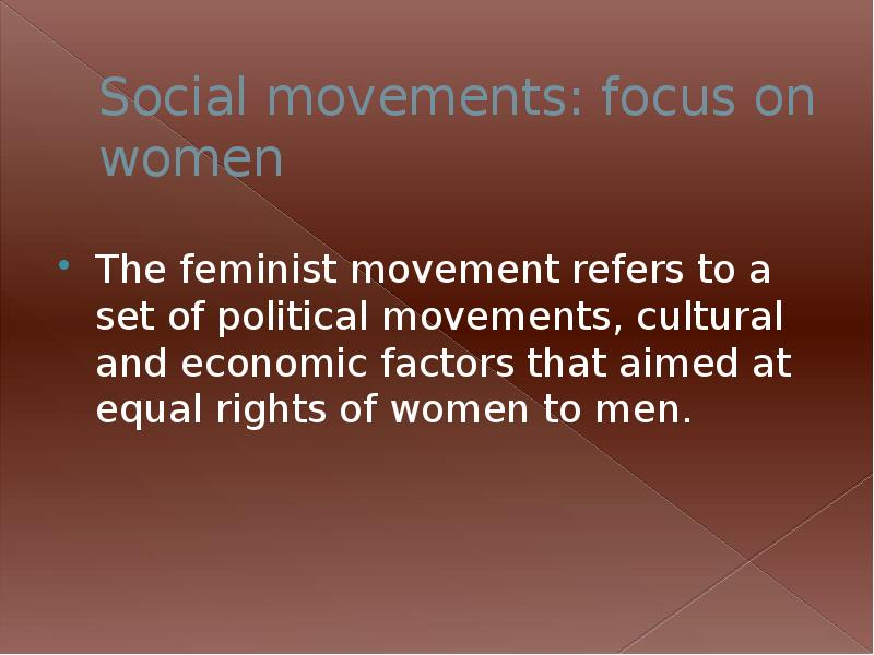 cause and effect on women rights movement In the 1890s, women won the right to vote in several other states after decades of intense struggle so, one of the most important accomplishments of the feminist movement is that women can now when you write a cause and effect essay, you need to explain how specific conditions or events.