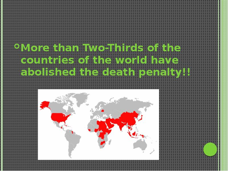 death penalty should be abolished The death penalty should be abolished for a lot of reasons lina on october 11, 2010 at 7:43 am said: empirical studies (christie, 2007) show that death penalty does not deter the population (we do not learn from mistakes of the others 🙂 therefore there is no reason for death penalty not to be abolish.