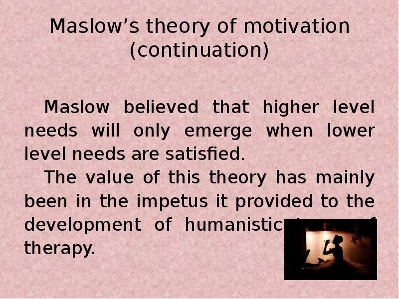 mcdonald theories of motivation Motivation theories: individual needs motivation is a complex phenomenon several theories attempt to explain how motivation works in management circles, probably the most popular explanations of motivation are based on the needs of the individual.