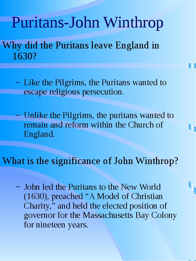 puritan society essay Religion in the life of the puritans essay sample the puritans were a people of high moral standards and strong religious beliefs religion encompassed every aspect of their lives and offered a base at which they could lay the foundations of a new society.