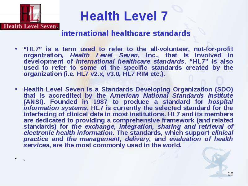 how do health level seven hl7 standards facilitate the sharing of clinical data please give specific