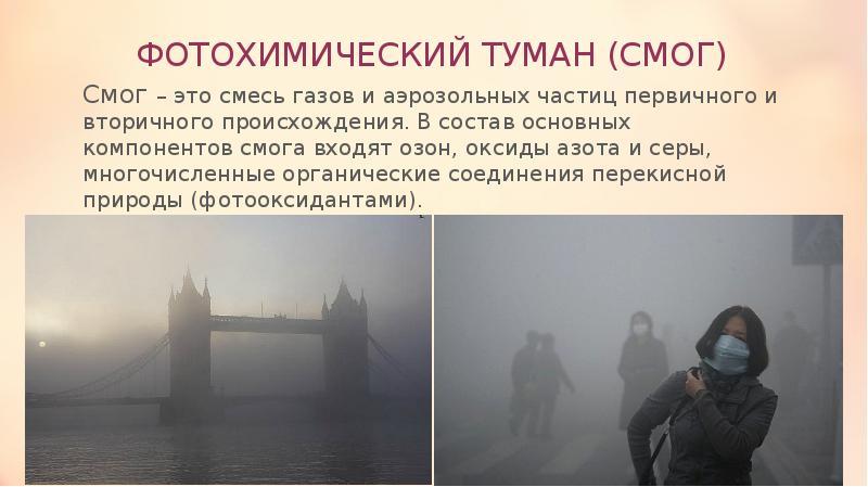 реферат на тему смог и фотохимический туман память