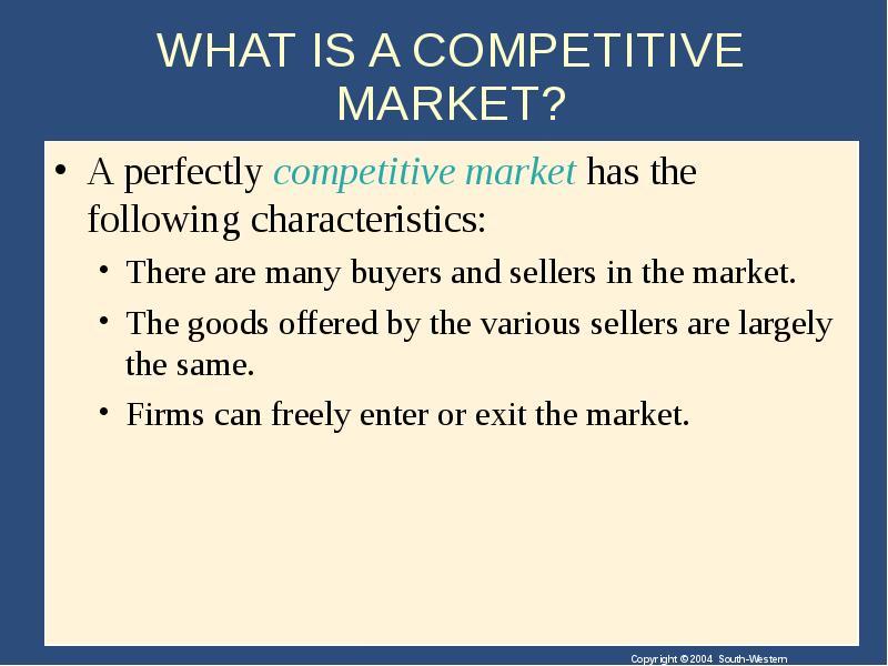 characteristics of a perfect market
