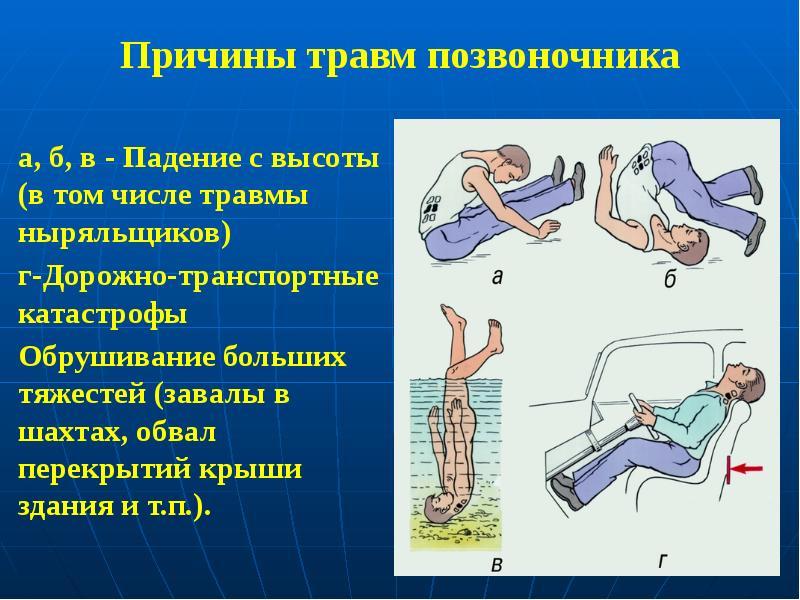 Холодная вода при травме позвоночника