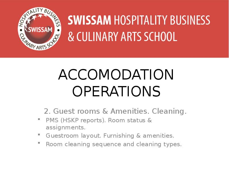 hospitality accommodation operations essay Part of thebusiness administration, management, and operations commons,hospitality administration and management commons,organizational behavior.