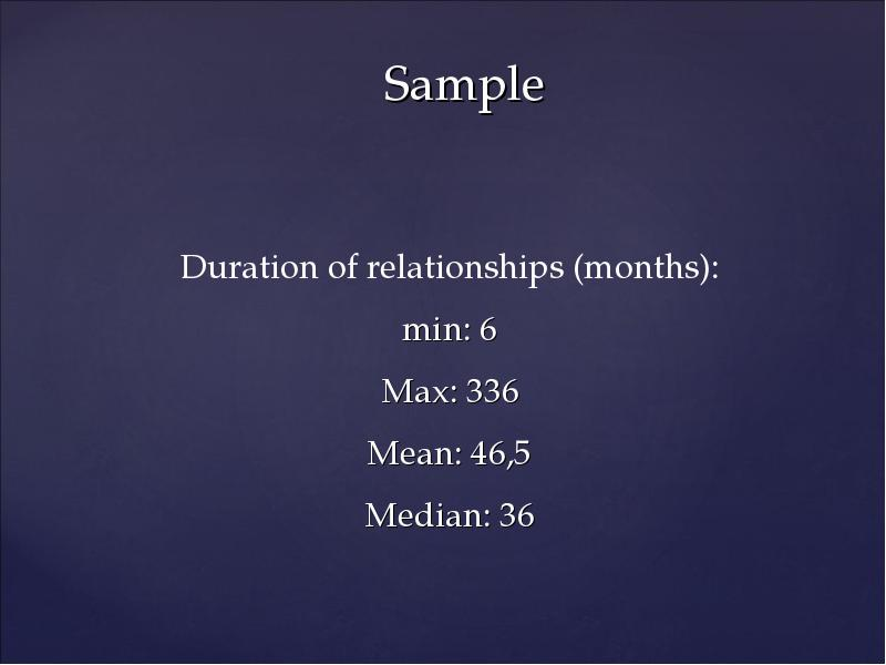 termination process in romantic relationships This longitudinal study focused on long‐distance romantic relationships that terminated within a 15‐month time frame although relational termination was once treated as a single event versus an unfolding progression of relationship change, duck (1982) ushered in a process approach to.