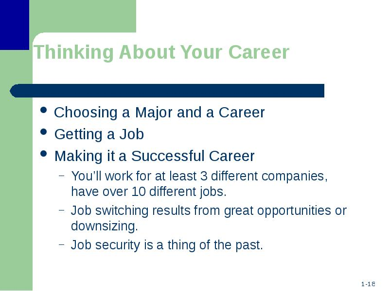 thinking about your career