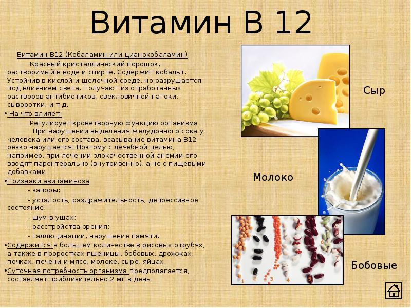 При алкоголизме витамин в12 в