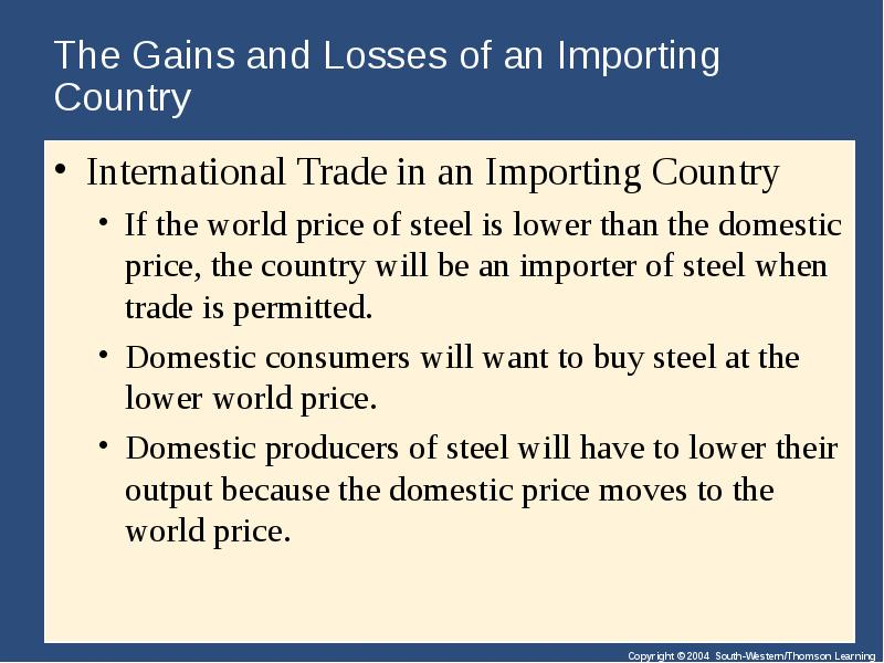 domestic vs international trade Exporting vs domestic selling international, trade documentation, foreign currencies, and different and additional marketing channels new.
