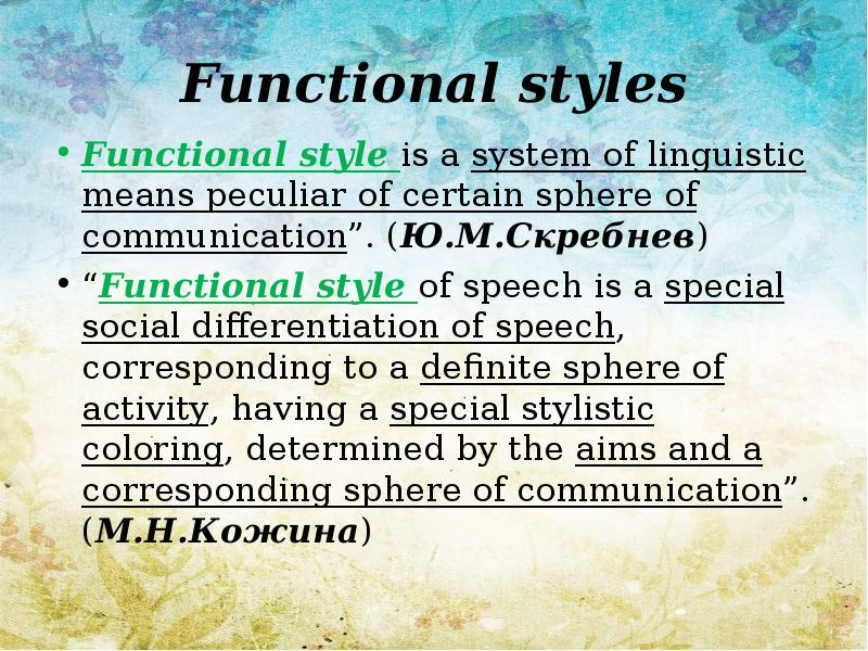 functional stylistics Methodologies for stylistic analysis: practices and on applications to stylistics in the literature or literary language is – or functional -.