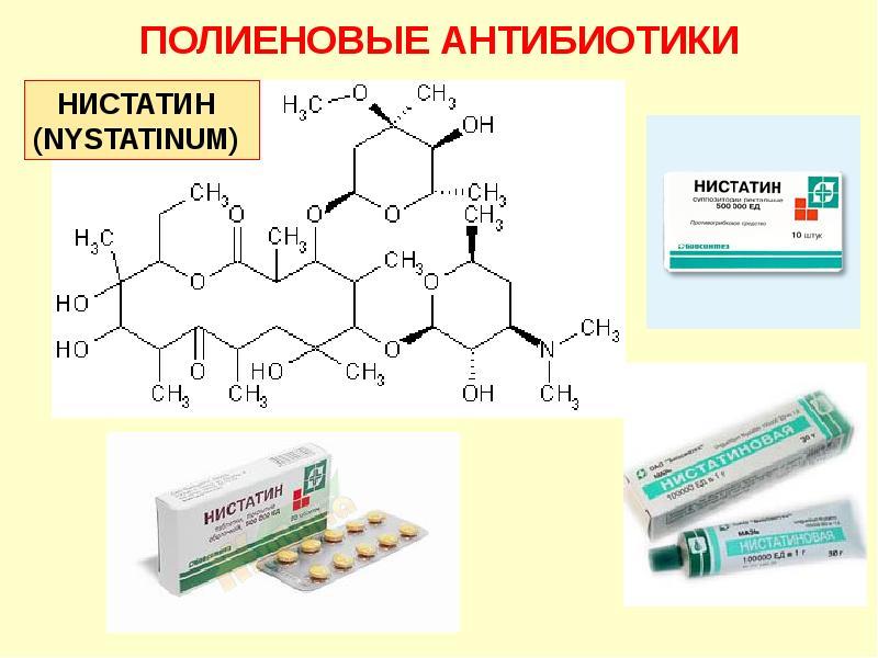 Антибиотики и нистатин как принимать