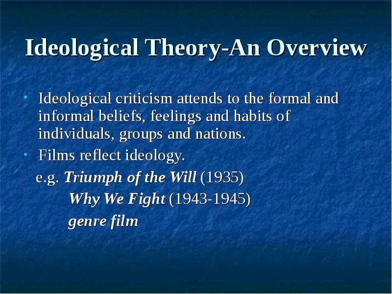 ideological criticism