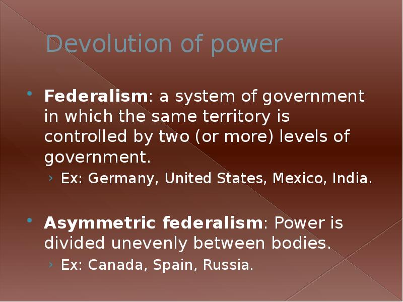 comparative federalism us v canada Canada and australia have both been immersed in experiences combining westminster-style parliamentary democracy with federalism you dismissed this ad the feedback you provide will help us show you more relevant content in the future.