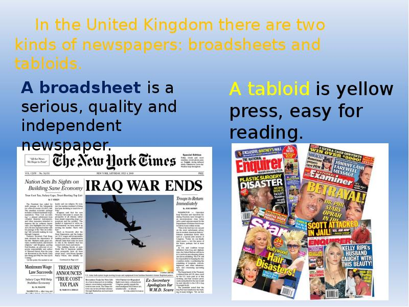 comparing broadsheet and tabloid newspapers essay
