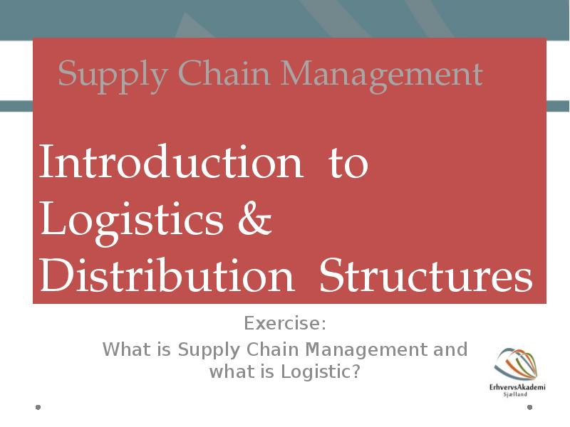 introduction to distribution management Effective distribution management, a pre-requisite for retail  introduction for any organization to be effective there should be effective distribution management.