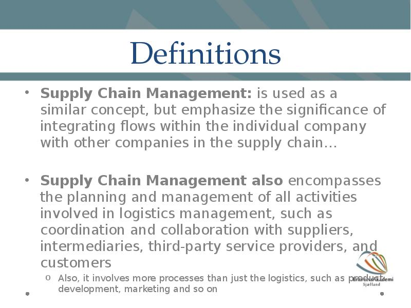 an overview of supply chain management and its significance in company In the 1990s dell revolutionized both the computer industry and supply chain management with its direct-to-consumer business model for the past several years, however, the company has been transforming its supply chain into a multichannel, segmented model, with different policies for serving consumers, corporate customers.