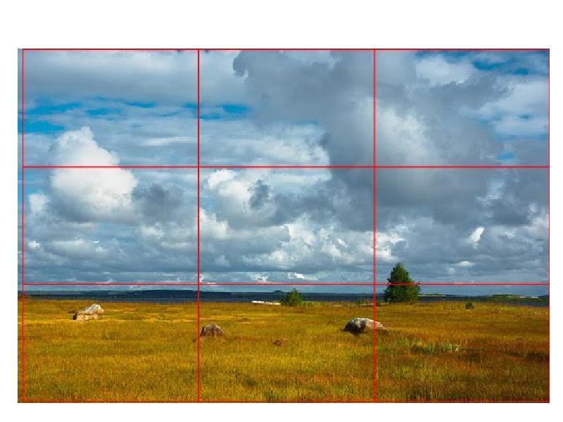 помощью правила построения композиции при фотографировании вообще это богоугодное