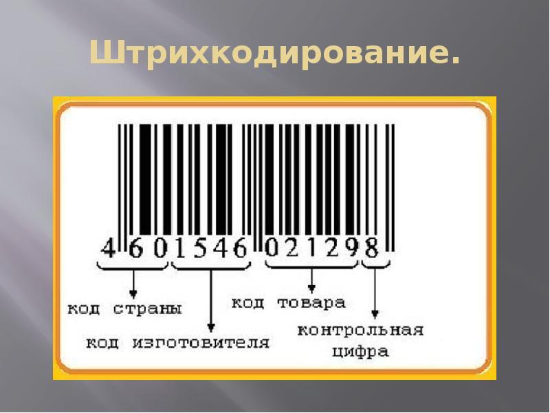 Штрих кодирование товаров