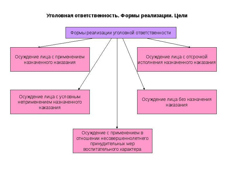 ответственность реализации понятие,основание,формы уголовная шпаргалки