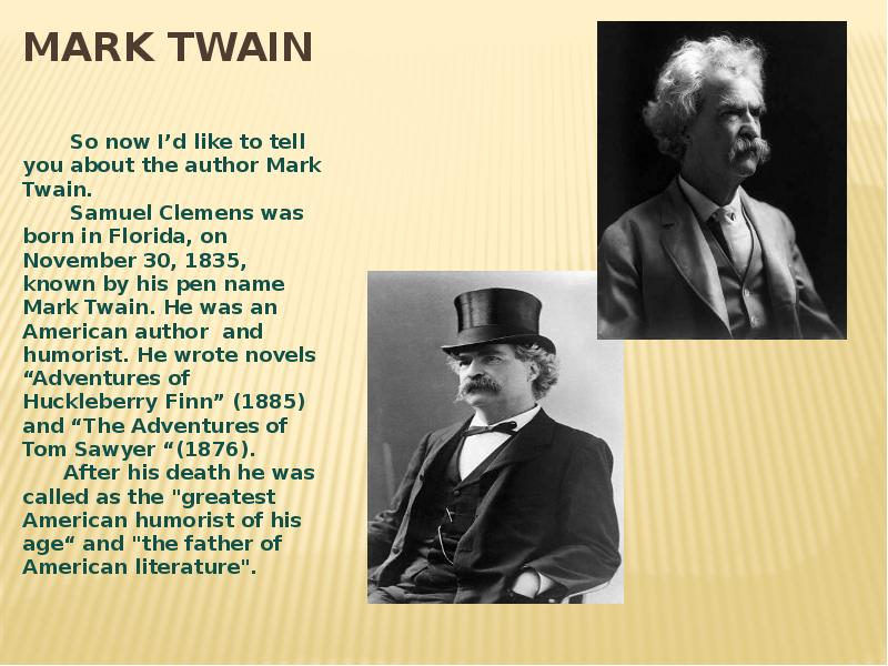the mark twain thesis essay Essays and criticism on mark twain - critical essays.