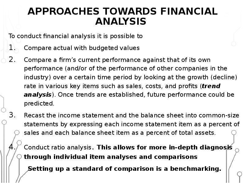 comparative financial analysis trend analysis ratio analysis percentage analysis