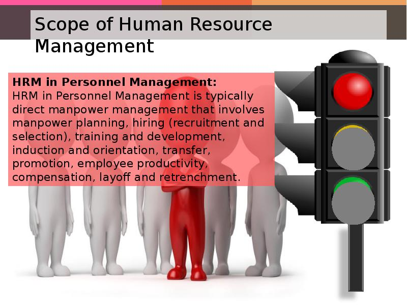 the broad scopes of human resources The scope of human resource management refers to all the activities that come under the banner of human resource management these activities are as follows.