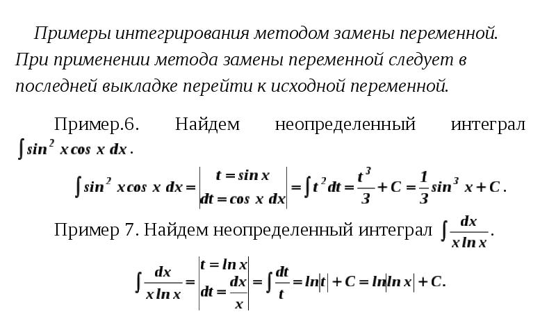 материала Шерсть пример решений тригонометрических интегралов методом замены первую очередь, нужно