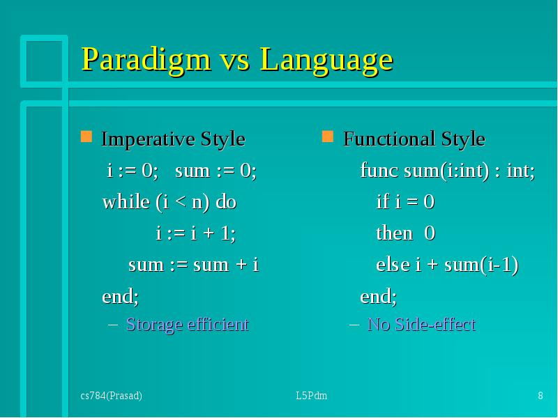 programming paradigms or styles The purpose of this document is to help you understand the basics of different styles of programming in my opinion, the best programming style is object oriented programming in this document i will discuss different kinds of developing, like functional programming, modular programming and eventually, object oriented programming.