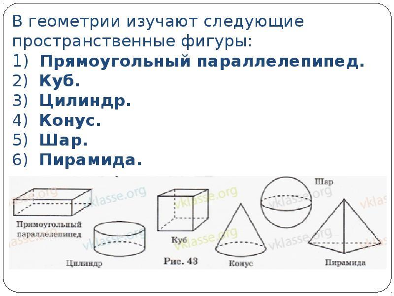 Геометрические фигуры в пространстве реферат 2340