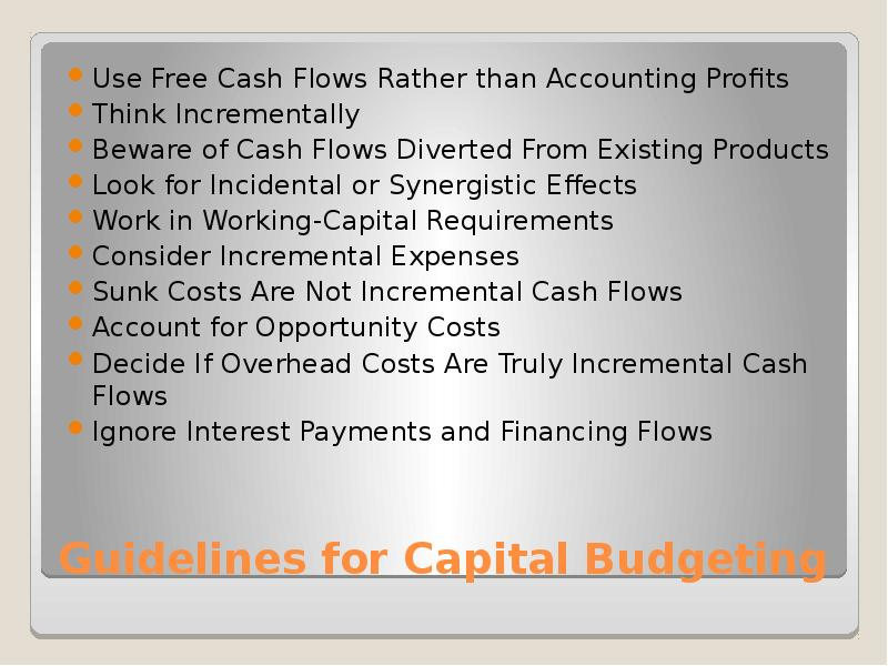 introduction for capital budgeting