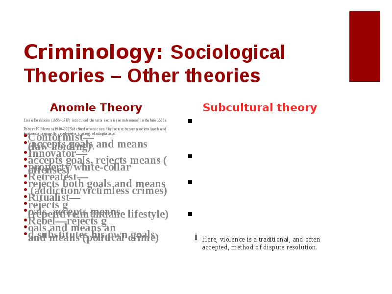 criminology theories the case of r