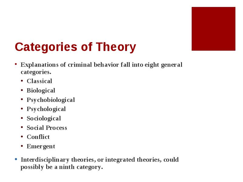 biological explanation of crime The biological explanation of criminal behaviour is a structural account of describing why people commit crimes structure-based explanations argue that human actions/ behaviours are driven by forces beyond their control this can be administered by rules, views/opinions, faith, pressures and.