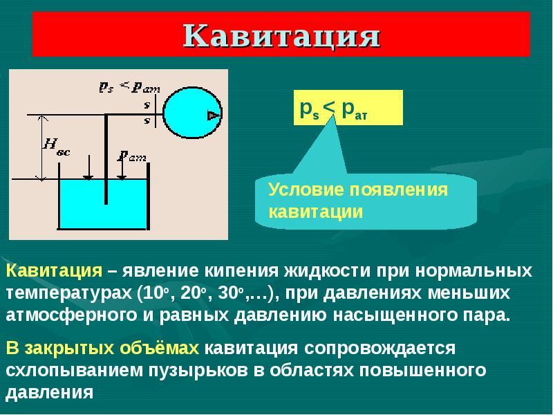 Кавитация температура