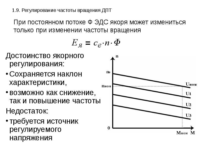 Основные способы регулирования частоты вращения дпт