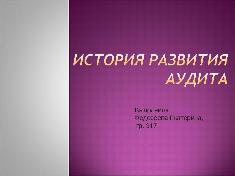 Доклад история развития аудита 1372