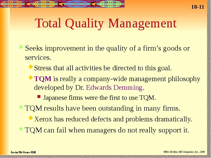 tqm of jakel silk house company Quality management: quality management is a method for ensuring that all the activities necessary to design, develop and implement a product or service are effective and efficient with respect to the system and its performance.