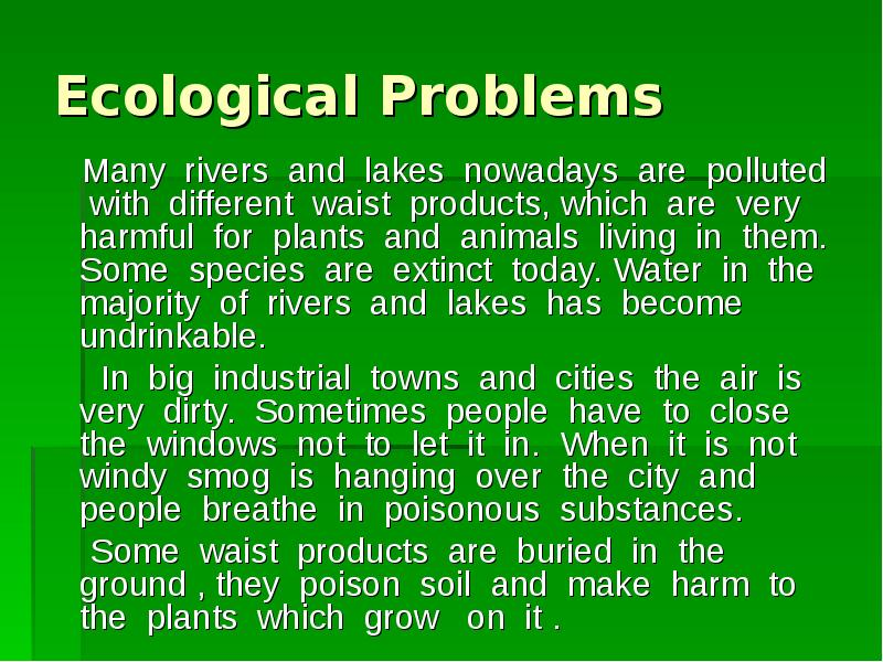 """speech on environmental issues today Albert einstein said """"look deep into nature, and then you will understand everything better """" our planet is in trouble pretty much everywhere you look today you will hear or see something reminding you that our planet's health is failing."""
