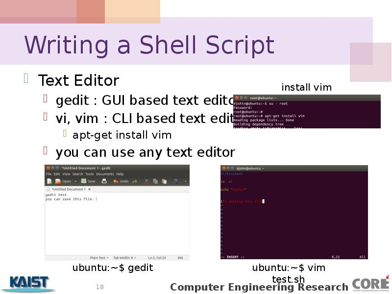 writing a shell script Write a shell script to accept two numbers from the command line, compare them and determine which is the larger it should output a suitable message write shell scripts for the above examples and try them out write a script which checks whether a given file contains a given word if it es, the.