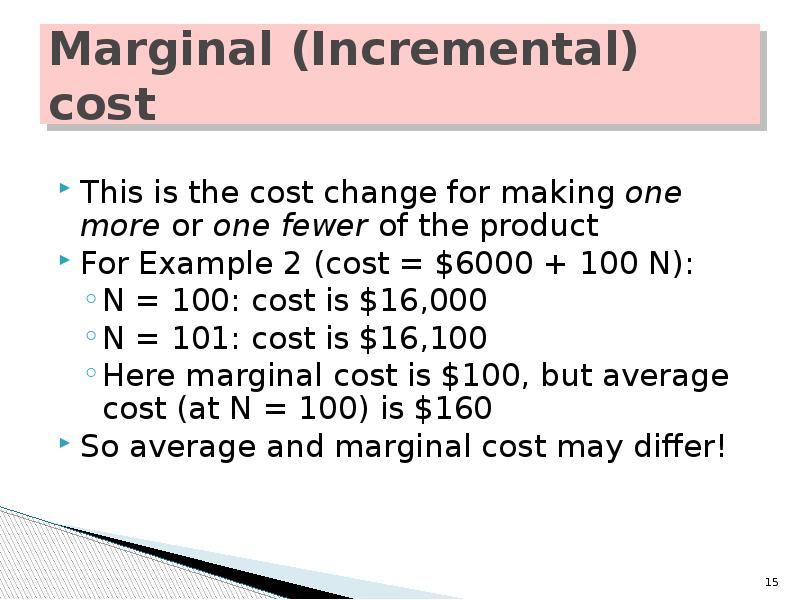 marginal and incremental principle Basic tools in managerial economics the incremental principle may be stated as under: this generalization is called the equi-marginal principle.