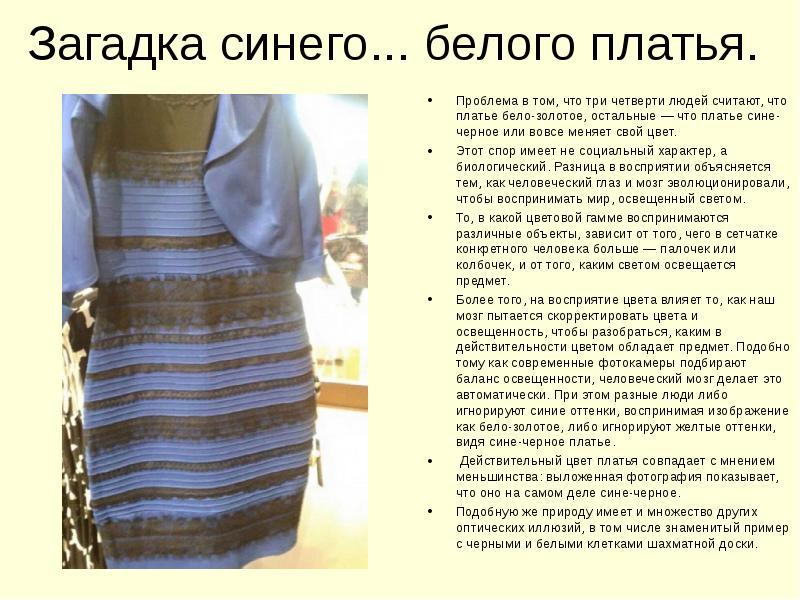 Объяснение Бело Золотого Платья