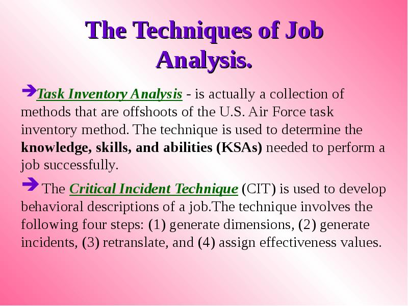 assignment 2 hrm 530 job analysis Describe your method of collecting the information for the job analysis (ie, one-on-one, interview, survey, etc) create a job description from the job analysis justify your belief that the job analysis and job description are in compliance with state and federal regulations.