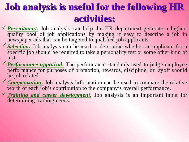 human resources job analysis paper Search for more papers the application of job analysis techniques makes development and application of metrics to analyze job data, human resource.